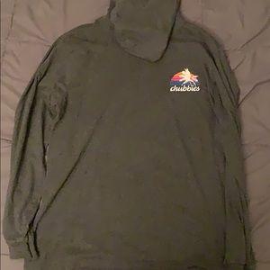 Chubbies Long Sleeve Hooded T-Shirt,  XXL
